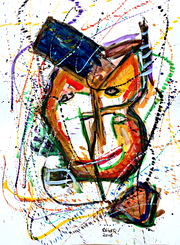 """Cubist Mask"" Oliver Loveday © 2016"